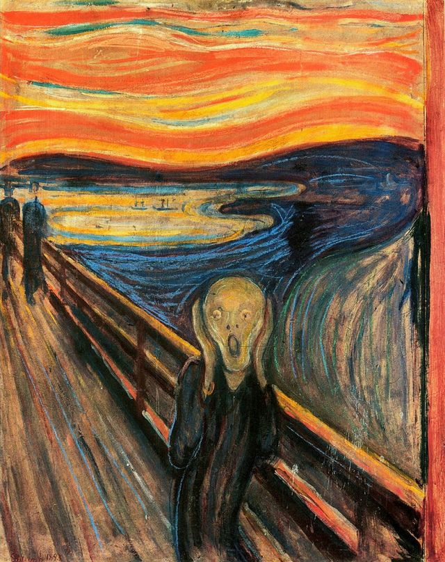 The Scream, by Edvard Munch (oil on canvas, 1893)