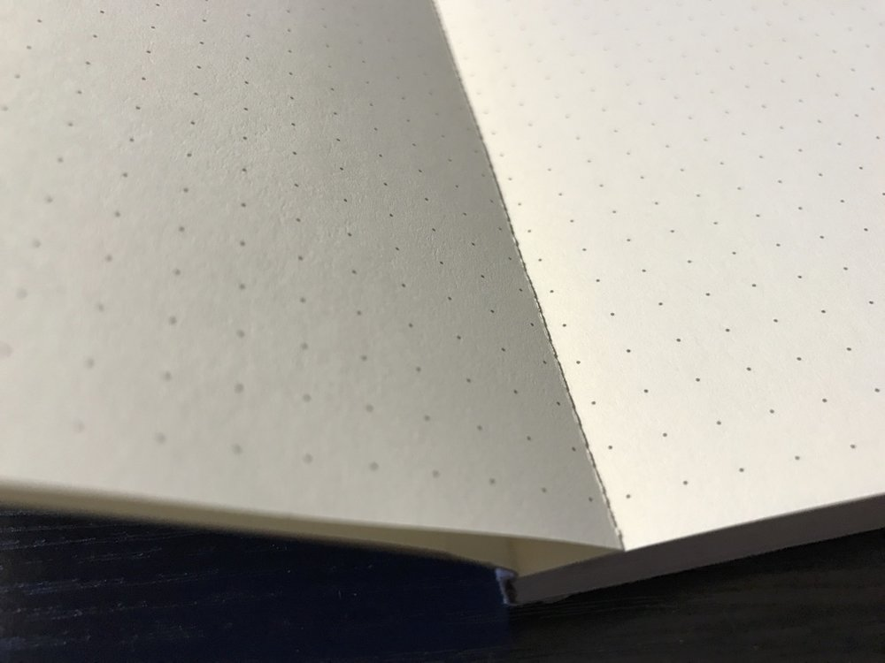 Rather than lie flat, the Northbooks book wants to open at the perforations, which are on each page.