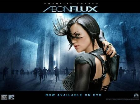Aeon Flux ad card