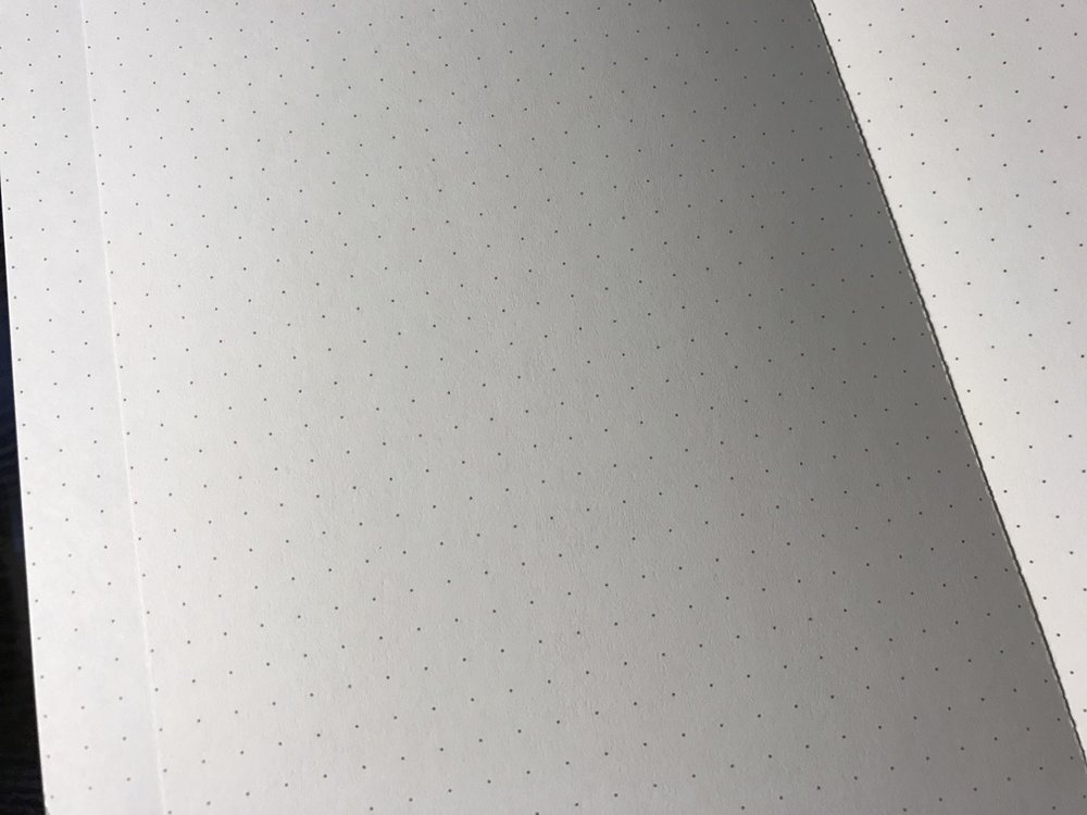 The paper itself is of fine quality, with fairly dark dots.
